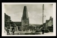 Somerset PORLOCK St Dubricius Church early RP PPC by Nelson Horton of Minehead