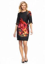 Julian Taylor Wear to Work Floral Printed Scuba Sheath Dress Sz 8