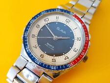 Rare SLAVA 'PEPSI' Vintage Men's Soviet watch from mid 1980s Original Bracelet