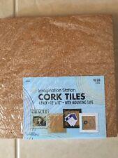 4 Pack Cork Tiles 12X12 Bulletin Board Imagination station Panel Message Notice