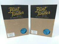 """2x NIB FLINT & TINDER Mens Trunk Brief Underwear ~ Carolina Blue ~USA XXL 41-43"""""""