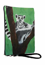 Lemur Pouch Wristlet with detachable strap - From my orginal Painting