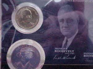 2014 Franklin & Eleanor Roosevelt Presidential Dollar Coin///First Spouse Medal