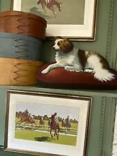 King Charles Spaniel Dog Dummy Board Hand Painted Oil on Wood