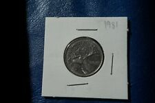 A-219 1981 Canada 25 Cents quarter Queen Elizabeth II