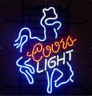 "New Coors Light Cowboy Neon Sign Beer Bar Pub Gift Light 17""x14"""