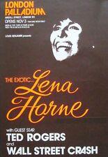 LENA HORNE LONDON 1970 (or 1975) concert poster JAZZ NM