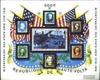 Obervolta Block31 (kompl.Ausg.) gestempelt 1975 Unabhängigkeit der USA