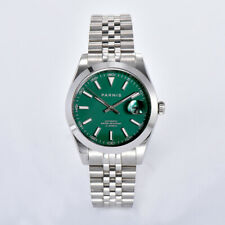 Parnis 39.5mm Green Dial Miyota 8215 Movement Automatic Mechanical Men's Watch