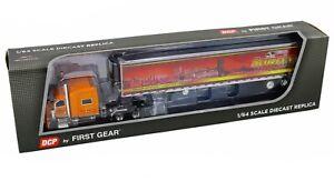 2020 First Gear DCP 1:64 SCOTLYNN USA Orange Peterbilt 389 w/53' Reefer Trailer