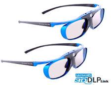 "2x Hi-SHOCK® DLP Pro ""Blue Heaven"" | DLP Link 3D Brille für Acer, Benq, Optoma"
