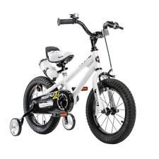 White 1.2-mm Frame Welded Steel Freestyle BMX Kid's Bike with Training Wheels