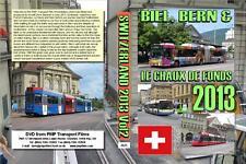 2621. Beil, Bern and Chaux De Fonds. Switzerland. Trolleybuses, Trams. July 2013