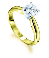 0.50CT SOLITAIRE DIAMOND 4 TULIP CLAW 18CT YELLOW & WHITE GOLD ENGAGEMENT RING