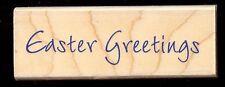 HERO ARTS rubber stamp EASTER GREETINGS Word, wood mounted, C2744