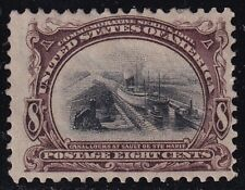 US STAMP #298 – 1901 8c Pan-American Exposition: Electric Automobile unused/ng