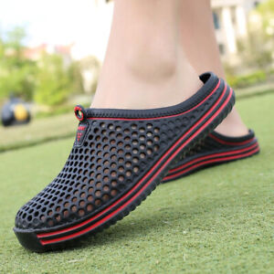 2021 Mens Summer Slippers Sandals Hollow Out Breathable Slip Unisex Casual Shoes