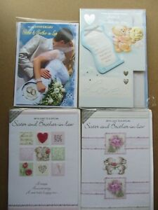 Sister and Brother in Law Anniversary cards. Multiple designs. Select one card