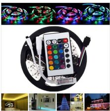 5m Bandeau Led Ruban Flexible NonEtanche,2835 300smd Led RGB+Telecommand+capteur