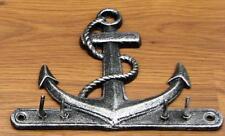 Cast Iron Anchor Key Rack Nautical Ship Wall Decor Key Holder