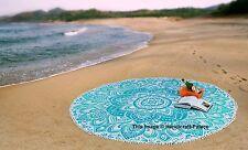 Ombre Hippie Runde Yoga-Matte Indischen Mandala Teppich Teppich Strand Wurf