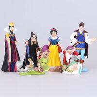 Lot de 8pcs Figurines d'action Reine Prince Sorcière de Blanche-Neige 3-11cm