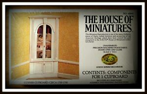 DOLL HOUSE OF MINIATURES CORNER CUPBOARD KIT, STUNNING ANTIQUE COPY, SEALED
