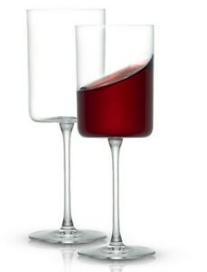 JoyJolt Claire European Crystal Red Wine Glasses 14 oz, Set of 2