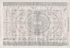 OLD ANTIQUE 1865 PRINT PLAN OF PALACE AND PARK DESIGN FOR PARIS EXHIBITION B170