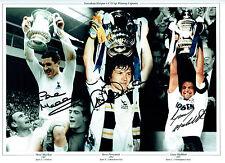 Dave MACKAY Steve PERRYMAN & Gary MABBUTT Signed Autograph HUGH Photo SPURS COA