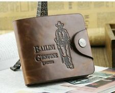 Vintage Style Bailini Hunter Men Leather Bifold Wallet For Men