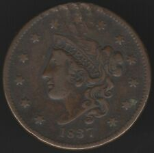 More details for 1837 u.s.a.coronet one cent coin | world coins | pennies2pounds
