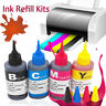 100ml Bulk Ink Refill Kit Replacement Ink for HP Canon Brother Printer Cartridge