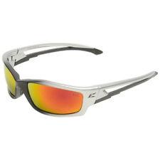 EDGE Eyewear SKAP119 Silver & Black / Aqua Precision Red Mirror Safety Glasses