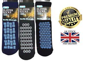 New 3 Pairs Men's Slipper Gripper Winter Non Slip Grip Thermal Socks