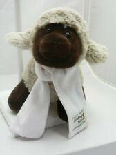 Minifeet peluche mouton beige chiné marron fourrure velours 20 x 19 cm environ
