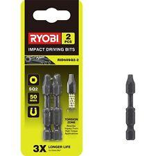 2x Ryobi Sq2 Impact Driving Bits 50mm 2pcs Magnetic Tip Torsion Zone *jap BRAND