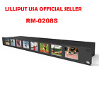 "LILLIPUT RM-0208S 8x2"" 1RU Rack SDI equalization  re-clocking Broadcast monitor"