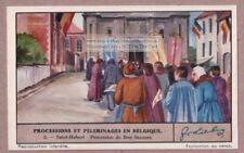 St Hubert Belgium Pilgrimage Religion Parade 1930s Trade Ad  Card