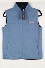 Vineyard Vines Boys Sweater Fleece Vest Size Large 16 Coastal Blue