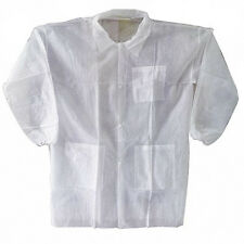 White Polypropylene Disposable Lab Coat - Size - 2XL (Case of 30)