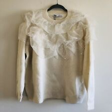 ZARA Ruffled Oversized Sweater - S