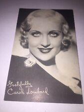 Carole Lombard Card Pin Up Vintage 30's Clark Gable 3 X 5 Movies Comedy