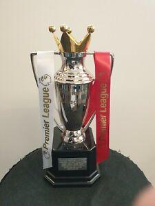 Manchester united Premier League replica trophy metal not plastic. Greatest ever
