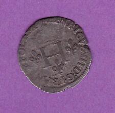 (Ref: MD.54) MONNAIE MEDIEVALE HENRI III DOUBLE SOL PARISIS 1578 B (RARE)