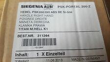 Aubi Sigenia abschließbar PSK Schiebetür Griff silber 200-Z Handhebel RE Si-Line