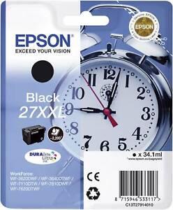 Genuine Epson27XXL Black T2791 Ink Cartridge for WF 3620dwf 7610dwf 7210dtw
