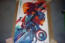 Tom Whalen Captain America: Civil War Variant Edition Print 2017 NYCC