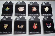 8 Pin Disney Shopping.com Mardi Gras Set Mint on Original Cards