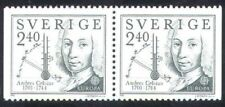 Sweden 1982 MNH Pair, Anders Celsius Swedish Astronomer, Invented Thermometer  (